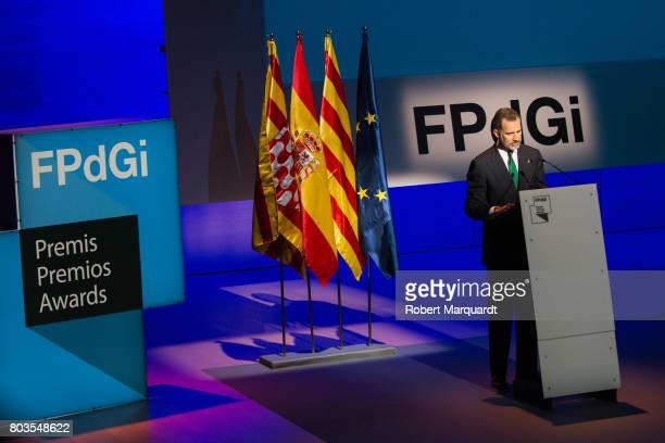 King Felipe VI of Spain attends the 'Princesa de Girona' foundation awards held at the Palacio de Congressos de Girona on June 29 2017 in Girona Spain