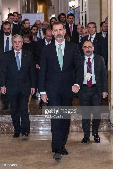 King Felipe VI of Spain attends the 'Spain Investors Day' at Ritz Hotel on January 10 2017 in Madrid Spain