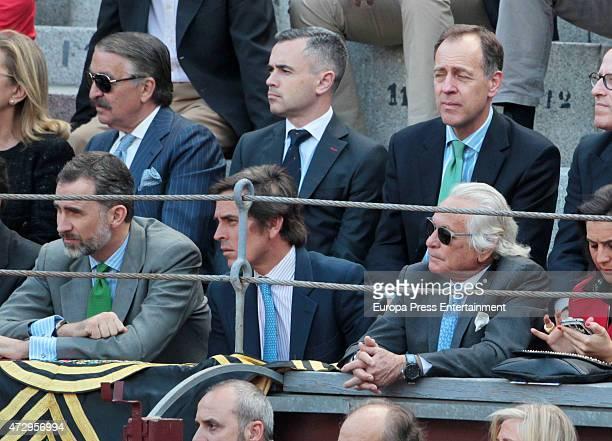 King Felipe VI of Spain Davila Mihura and Palomo Linares attend San Isidro Bullfighting Fair at Las Ventas Bullring on May 8 2015 in Madrid Spain
