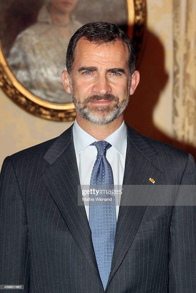 King Felipe VI of Spain during a one day visit to Luxembourg on November 11, 2014 in Luxembourg, Luxembourg.
