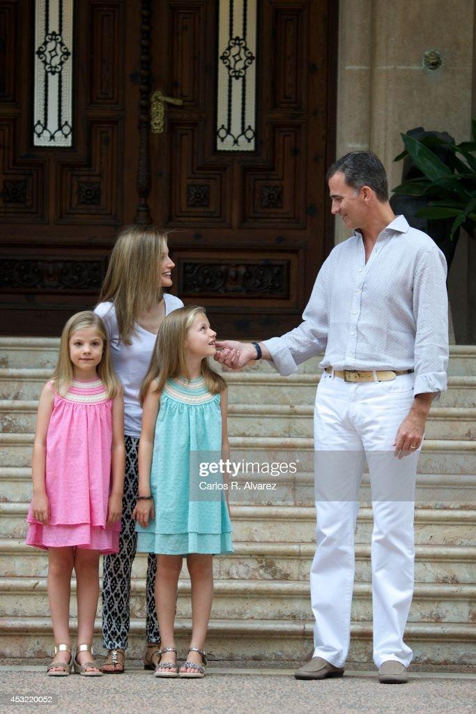 Spanish Royals Arrive at Palma de Mallorca