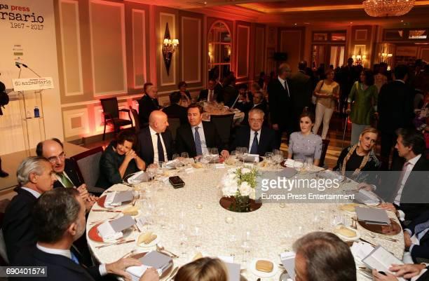 King Felipe VI of Spain Queen Letizia of Spain Asis Martin de Cabiedes Rosario Martin de Cabiedes Ignacio Sanchez Galan Cristina Cifuentes Dimas...