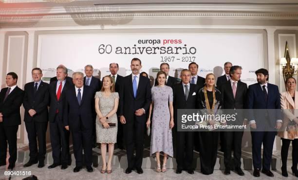 King Felipe VI of Spain Queen Letizia of Spain Asis Martin de Cabiedes Javier Garcia Vila Ana Pastor Iñigo Mendez de Vigo Uxue Barkos Emilio...
