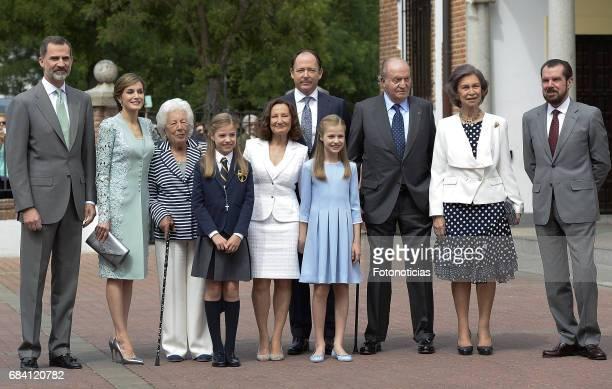 King Felipe VI of Spain Queen Letizia of Spain Menchu del Valle Princess Sofia of Spain Paloma Rocasolano Konstantin of Bulgari Princess Leonor of...