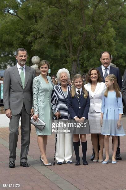 King Felipe VI of Spain Queen Letizia of Spain Menchu del Valle Princess Sofia of Spain Paloma Rocasolano Konstantin of Bulgari and Princess Leonor...