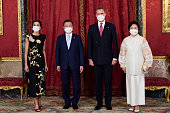 Spanish Royals Host A Dinner For President Of South...