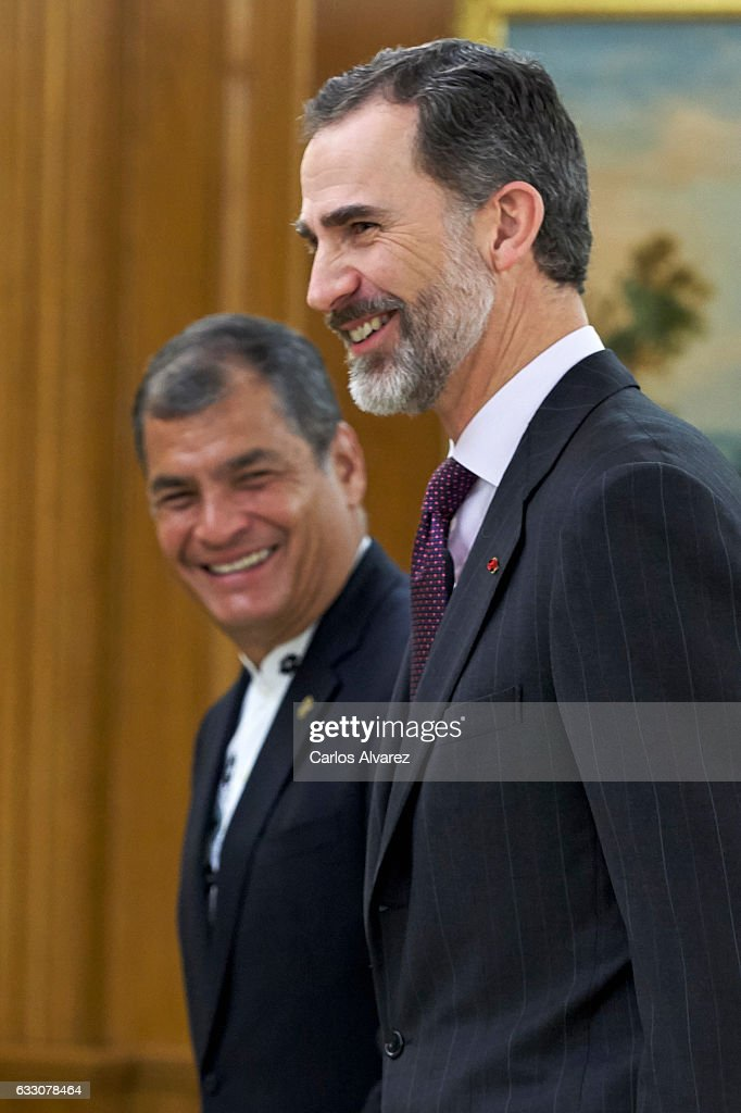 King Felipe Of Spain Meets President Of Ecuador, Rafael Correa