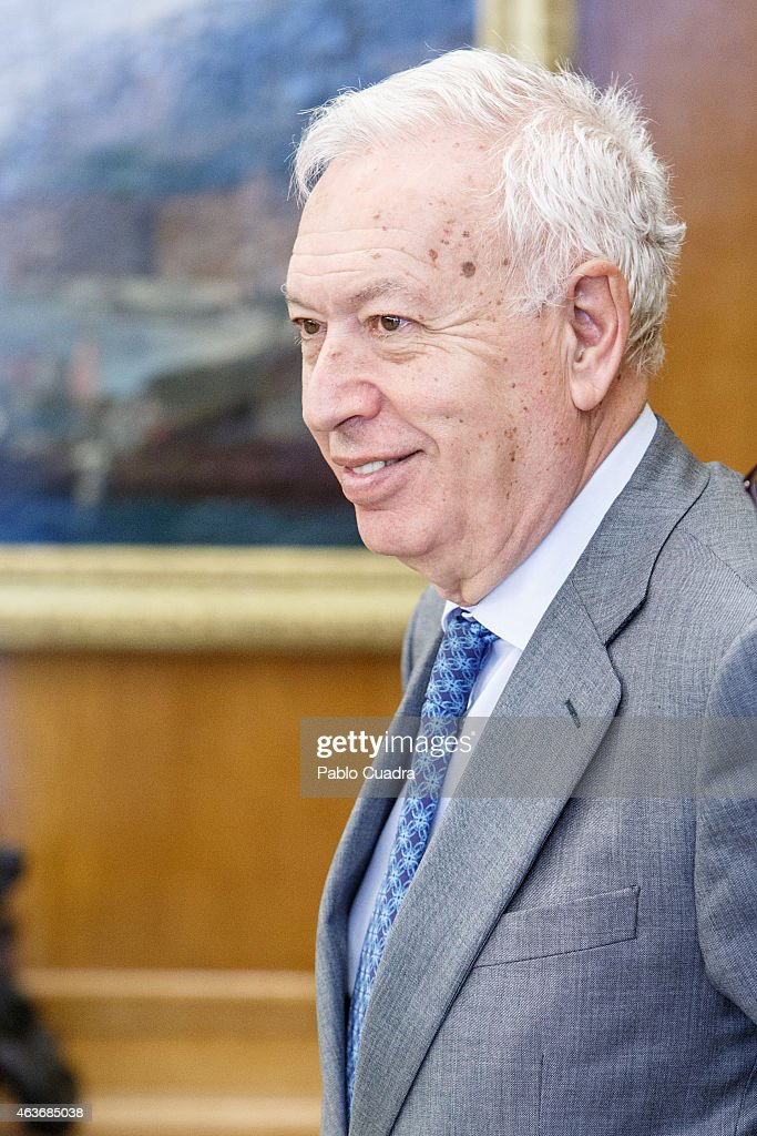 King Felipe VI of Spain (No Picture) receives Jose Manuel Garcia Margallo, Spanish - king-felipe-vi-of-spain-receives-jose-manuel-garcia-margallo-spanish-picture-id463685038