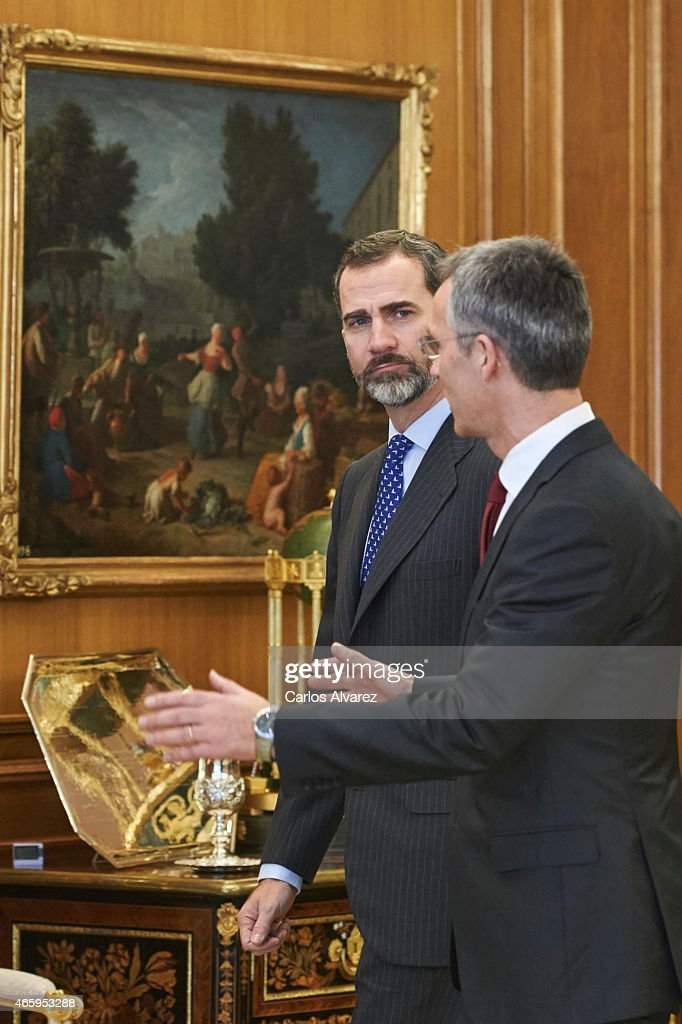 King Felipe of Spain Meets Secretary General of NATO