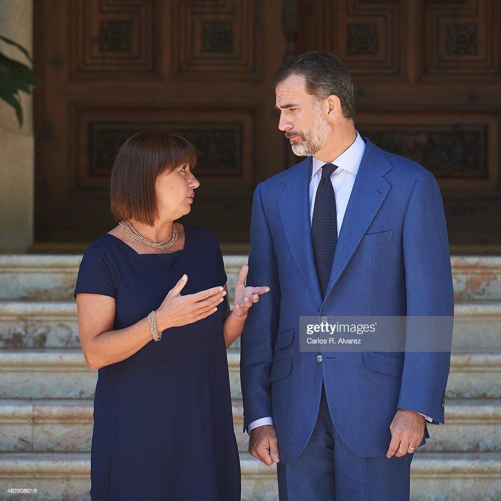 Consell Spain  city photo : King Felipe VI of Spain R receives President of Mallorca's Consell ...