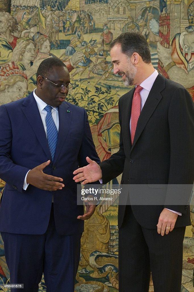 King Felipe VI Of Spain Receives Senegal's President Macky Sall