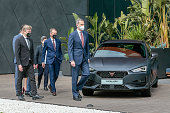 King Felipe Of Spain Visits SEAT Factory In Martorell