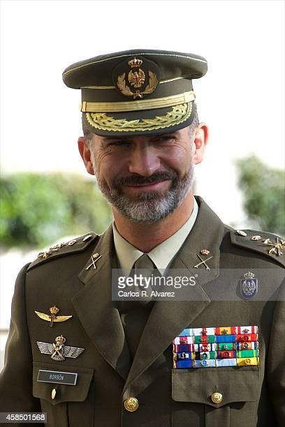 King Felipe VI of Spain visits the General Staff of Defence on November 6 2014 in Madrid Spain