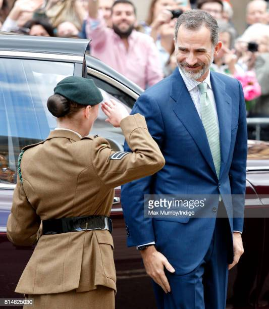 King Felipe VI of Spain visits the Weston Library at Oxford University on the final day of the Spanish State Visit to the United Kingdom on July 14...