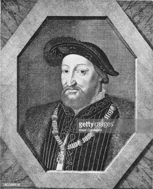 King Francis I of France Engraving by Montagne