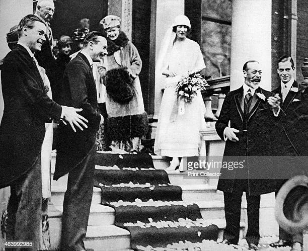 King George V waves good wishes to Princess Maud as she leaves for her honeymoon 1923 Princess Maud of Fife was a granddaughter of King Edward VII...