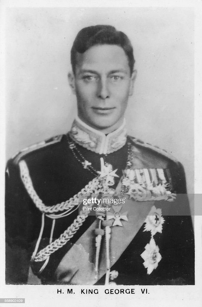 HM King George VI 1937 Shown wearing the uniform of a Colonel of the Scots Guards Card No 1 of 48 from Coronation Souvenir cigarette cards produced...