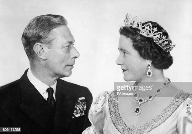 King George VI and Queen Elizabeth commemorating their twentyfifth wedding anniversary