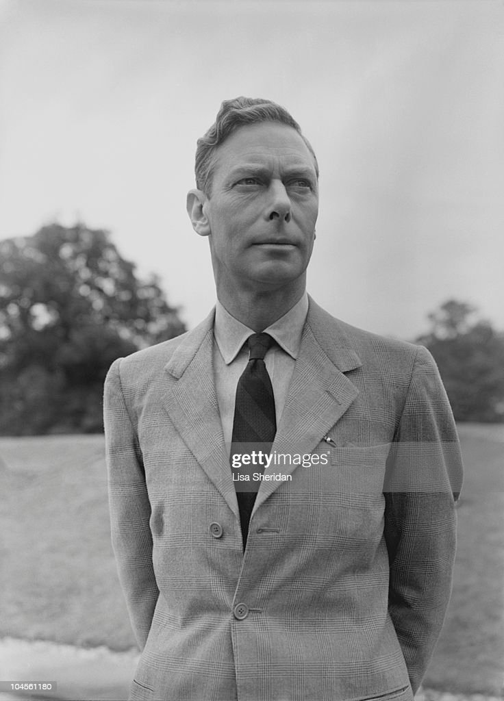 King George VI in the gardens at Windsor Castle, England on July 8, 1946.