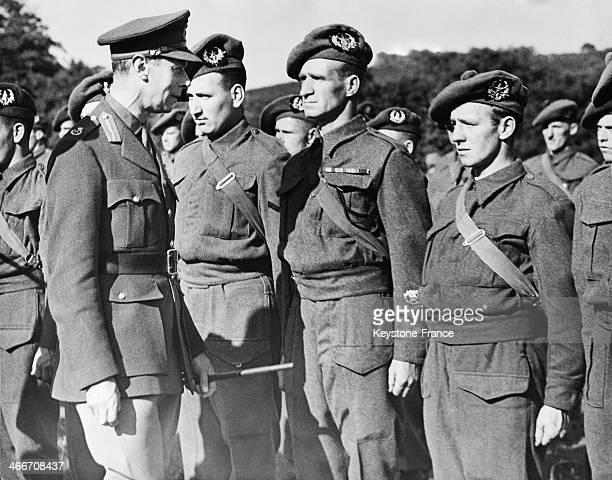 King George VI Inspecting Scottish Division On june1940