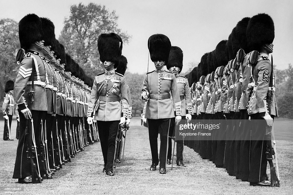 King George VI presented new colours to the second bataillion grenadier guards On May 25 1938