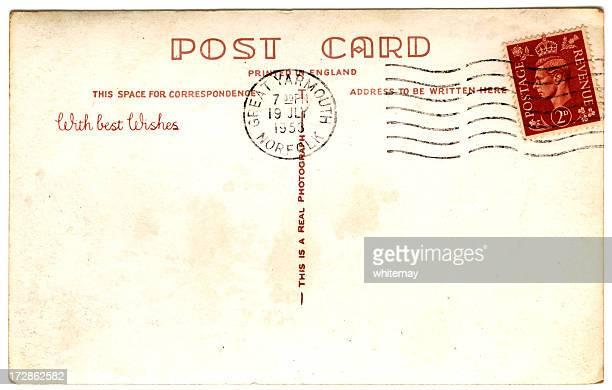 King George VI stamped postcard 1953