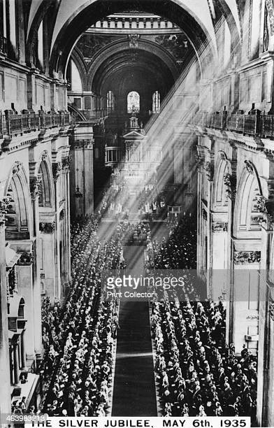 King George V's Silver Jubilee London 6th May 1935 Thanksgiving service in St Paul's Cathedral