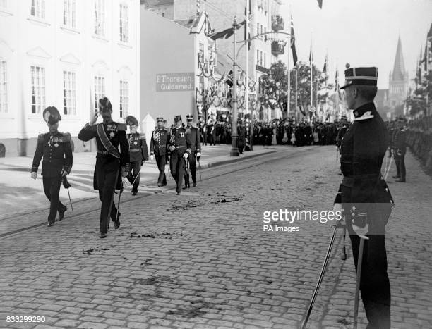 King Haakon walks the streets of Trondheim after being confirmed as the new monarch A referendum overwhelmingly confirmed by a 79 percent majority...