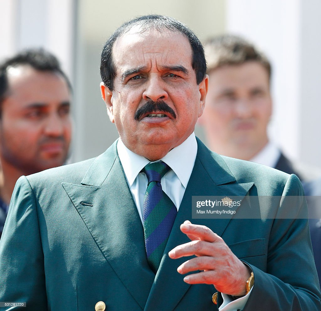 King Hamad bin Isa Al Khalifa of Bahrain attends the Royal Windsor Endurance Event on day 3 of the Royal Windsor Horse Show in Windsor Great Park on May 13, 2016 in Windsor, England.