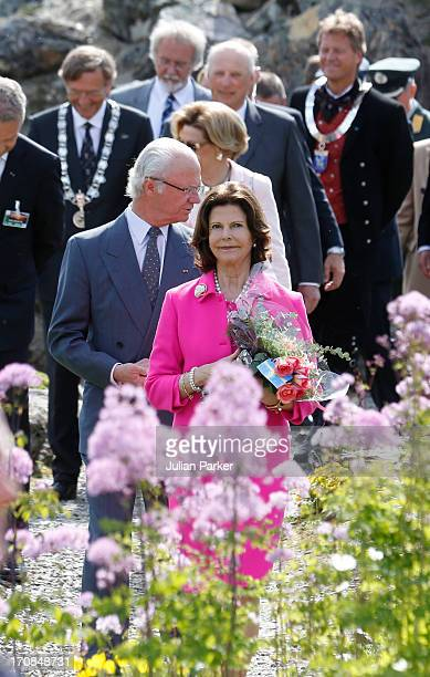 King Harald of Norway and Queen Sonja of Norway host an official visit of King Carl Gustaf and Queen Silvia of Sweden to Norway Queen Silvia and King...