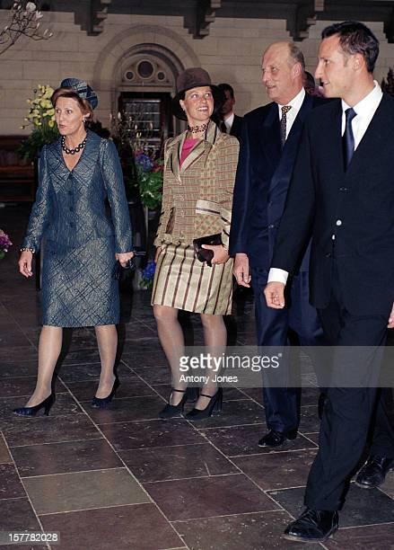 King Harald Queen Sonja Crown Prince Haakon Princess Martha Louise Of Norway Attend Queen Margrethe Ii Of Denmark'S 60Th Birthday Celebrations In...