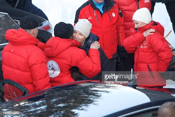King Harald V of Norway Princess Astrid of Norway Princess MetteMarit of Norway and Queen Sonja of Norway attend FIS World Cup Nordic Holmenkollen...