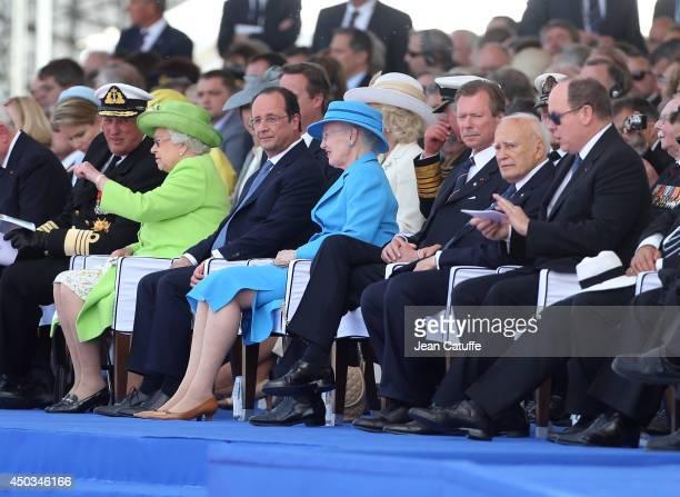 King Harald V of Norway Queen Elizabeth II French President Francois Hollande Queen Margrethe of Denmark Grand Duke Henri of Luxembourg President of...