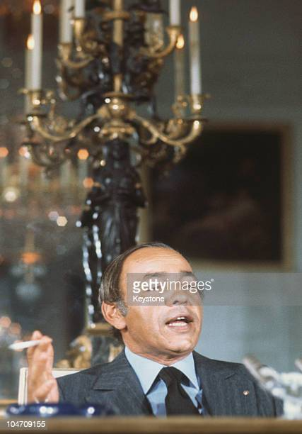 King Hassan II of Morocco during a visit to Paris France in 1976