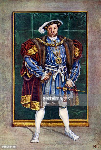 King Henry VIII in 1542 King of England from 1509 until his death After a portrait by Hans Eworth 1542After original by Herbert Norris artist died...