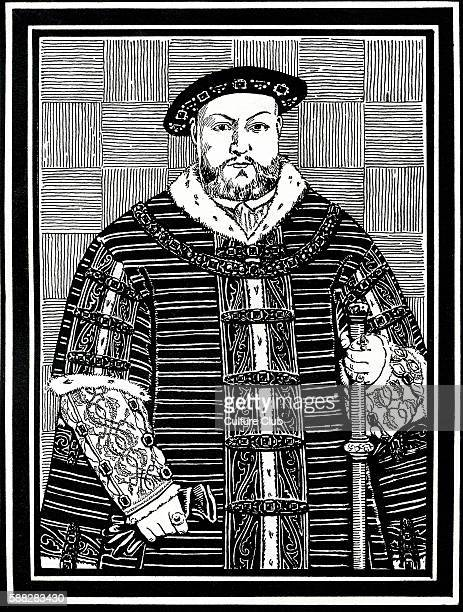 King Henry VIII in 1544 King of England from 1509 until his deathAfter original by Herbert Norris artist died 1950 may require copyright clearance