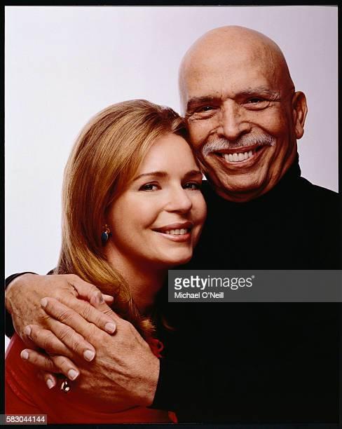 King Hussein of Jordan Hugging Wife Queen Noor