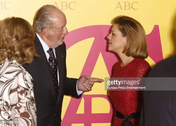 King Juan Carlos and Maria Dolores de Cospedal attend IX ABC Bullfighting Award at Casa de ABC on March 9 2017 in Madrid Spain