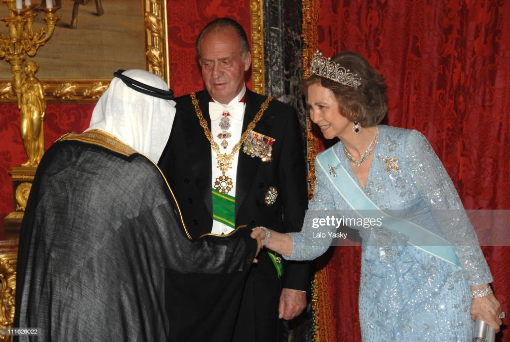 Spanish Royals Receive Saudi King Abdullah Bin Abdul Aziz -June 18, 2007