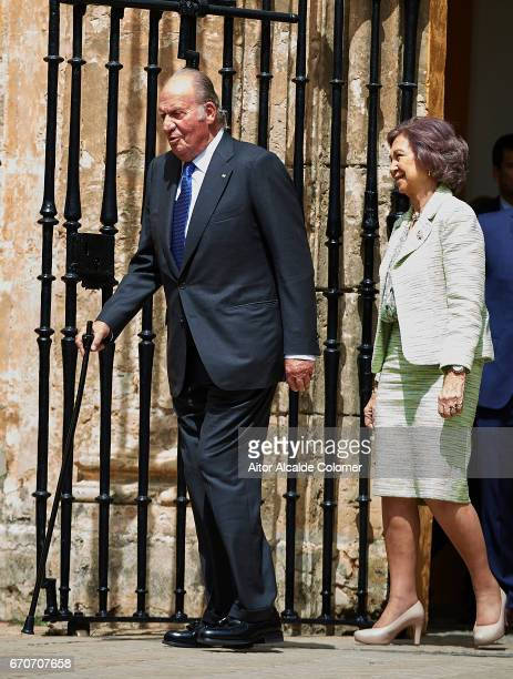King Juan Carlos and Queen Sofia attends the 25th Anniversary Tribute Of 'Seville Universal Exhibition' on April 20 2017 in Seville Spain