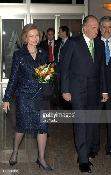 TRH King Juan Carlos and Queen Sofia during 'Madrid In Memoriam' Concert in Homage to March 11 2004 Terrorist Attacks Victims at Auditorio Nacional...