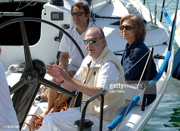 King Juan Carlos and Queen Sofia in Mallorca King Juan Carlos is a Member of the Bribon Staff During 2006 Edition of the Breitling Sailing Trophy in...