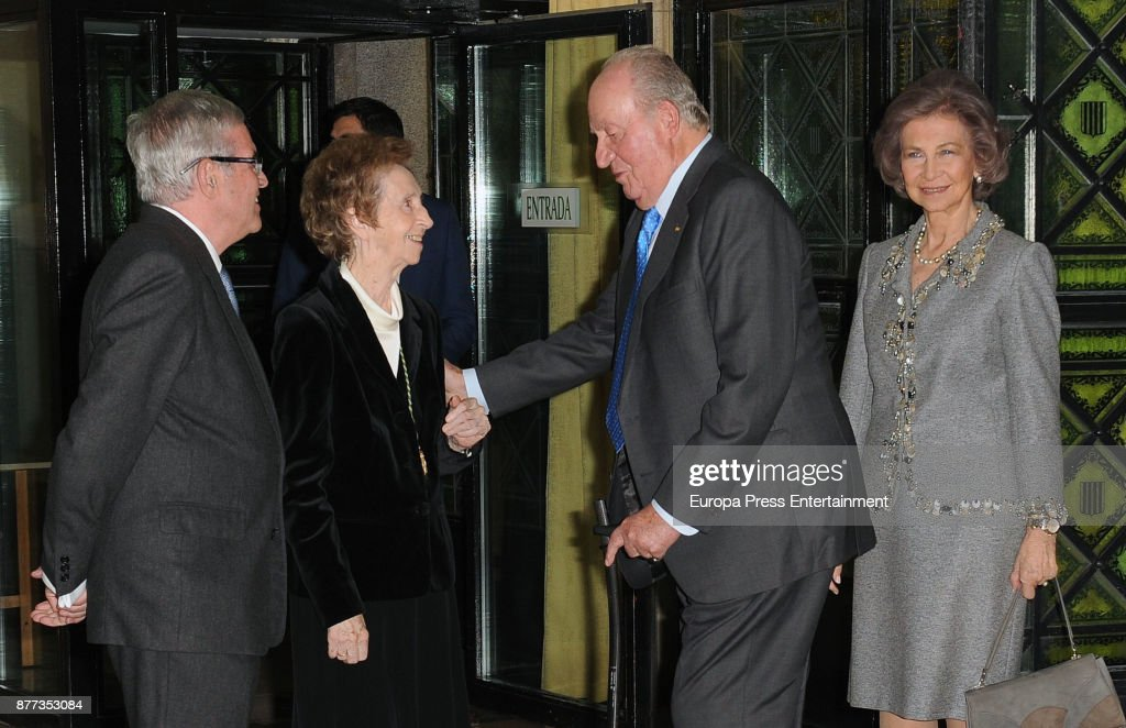 Spanish Royals Attend 2016 Echegaray Medal Award To Margarita Salas