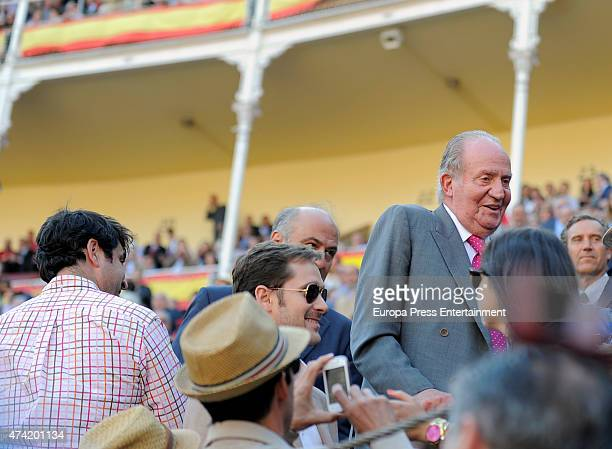 King Juan Carlos attends Press Association Bullfighting during San Isidro Fair at Las Ventas Bullring on May 20 2015 in Madrid Spain