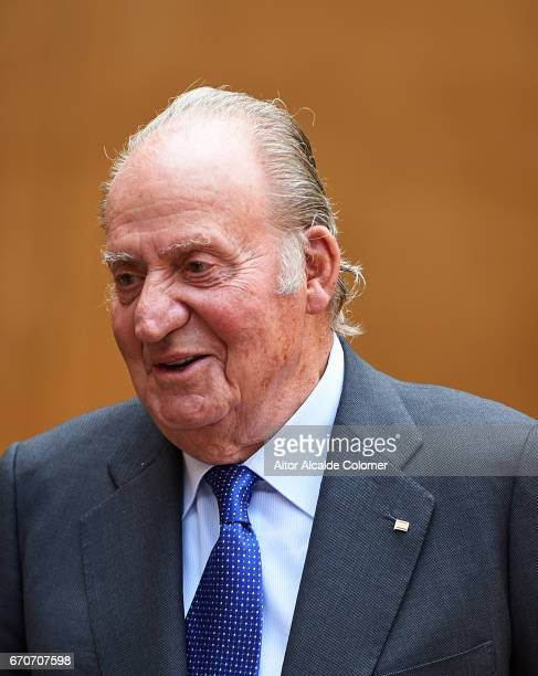 King Juan Carlos attends the 25th Anniversary Tribute Of 'Seville Universal Exhibition' on April 20 2017 in Seville Spain