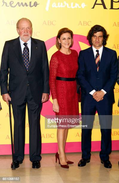 King Juan Carlos Maria Dolores de Cospedal and Morante de la Puebla attend IX ABC Bullfighting Award at Casa de ABC on March 9 2017 in Madrid Spain
