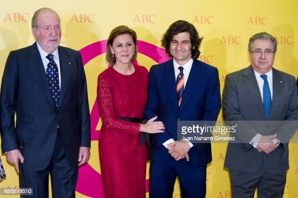 King Juan Carlos Maria Dolores de Cospedal Maria Dolores de Cospedal and Jose Antonio Morante Camacho attend IX ABC Bullfighting Award at Casa de ABC...