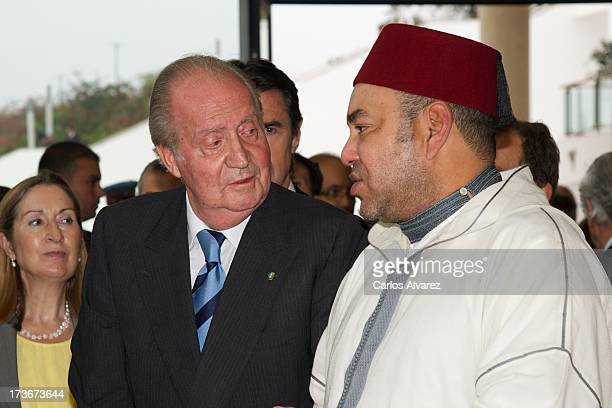 King Juan Carlos of Spain and King Mohammed VI of Morocco attend the inauguration of the '25 Anos de Cooperacion HispanoMarroqui' exhibition at the...