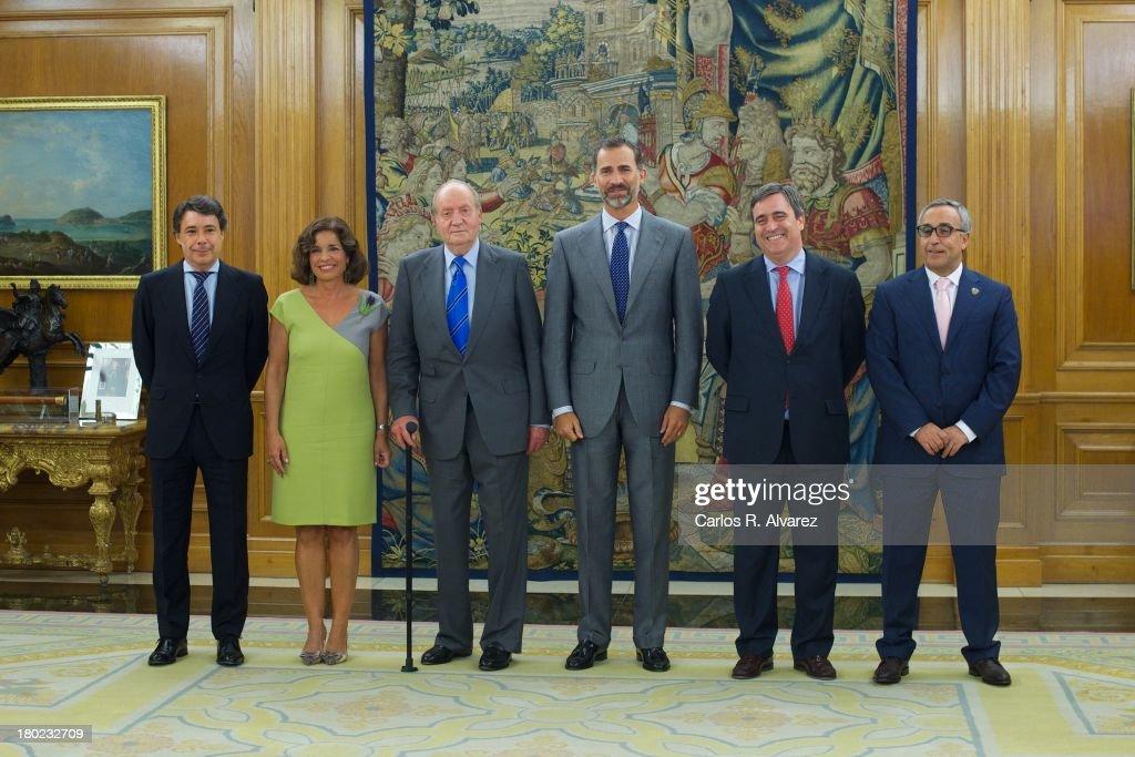 King Juan Carlos Meets Members of Madrid 2020 Candidate City