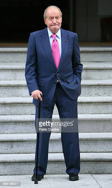 King Juan Carlos of Spain at Zarzuela Palace on May 28 2014 in Madrid Spain